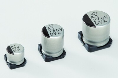 10µF 63V Aluminum - Polymer Capacitors Radial, Can - SMD 120mOhm
