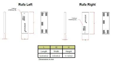 2.4 GHz Rufa SMD WiFi Anten