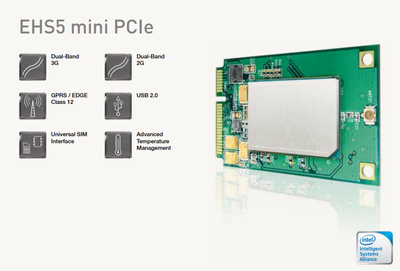 EHS5-E Mini PCle, 2G / 3G Modül +Java