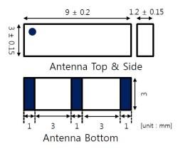 868 MHz ZigBee / ISM / SIGFOX / LoRa Seramik Anten - Thumbnail