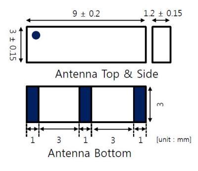 868 MHz ZigBee / ISM / SIGFOX / LoRa Seramik Anten