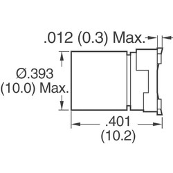 330µF 25V Aluminum Electrolytic Capacitors Radial, Can - SMD 1000 Hrs @ 105°C - Thumbnail