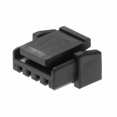 4 Rectangular Connectors - Housings Receptacle Black 0.049