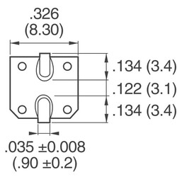 470µF 16V Aluminum Electrolytic Capacitors Radial, Can - SMD 2000 Hrs @ 105°C - Thumbnail