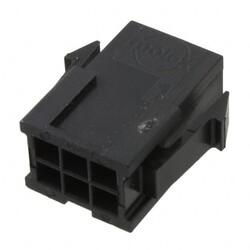 6 Rectangular Connectors - Housings Plug Black 0.118
