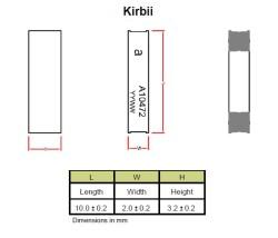 868/915 MHz KIRBII, ISM SMD Seramik Anten - Thumbnail