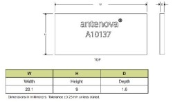 RF Anten GPS Radionova Co-planar SMD - Thumbnail