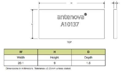 RF Anten GPS Radionova Co-planar SMD