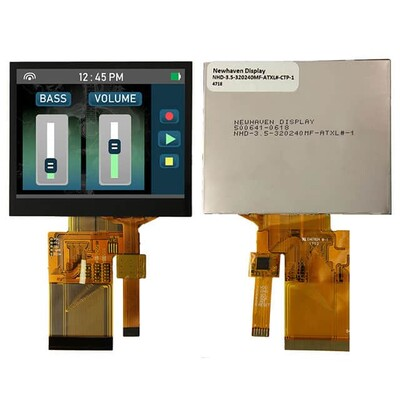 Capacitive Graphic LCD Display Module Transmissive Red, Green, Blue (RGB) TFT - Color Parallel, 24-Bit (RGB) 3.5