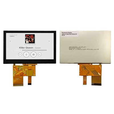 Capacitive Graphic LCD Display Module Transmissive Red, Green, Blue (RGB) TFT - Color Parallel, 24-Bit (RGB) 4.3