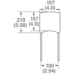 680pF ±5% 50V Ceramic Capacitor C0G, NP0 Radial - Thumbnail