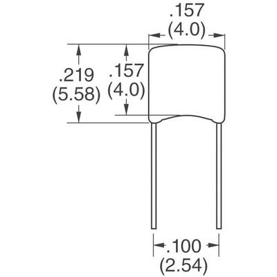680pF ±5% 50V Ceramic Capacitor C0G, NP0 Radial