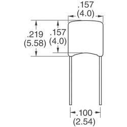 270pF ±5% 50V Ceramic Capacitor C0G, NP0 Radial - Thumbnail