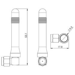 Dualband Anten 2G GSM / GPRS Konnektörlü - Thumbnail