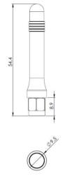 Dualband SMA Anten 2G GSM / GPRS Konnektörlü - Thumbnail