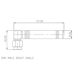 GSM 2dBi SMA Erkek - Thumbnail