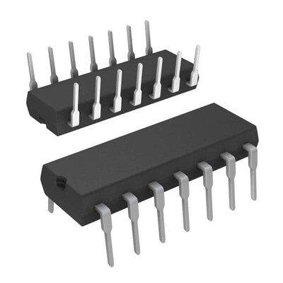 Inverter IC 6 Channel Open Collector 14-PDIP