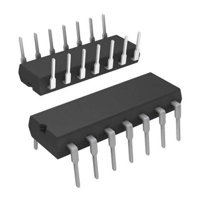 Inverter IC 6 Channel Schmitt Trigger 14-PDIP