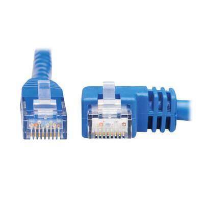 Modular Cable Plug to Plug, Angled Right, 90° 8p8c (RJ45, Ethernet) 20.00' (6.10m) Unshielded