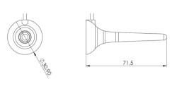 3G/2G GSM Anten, 2.5m RG174 kablo, Mıknatıs Tabanlı Çubuk, SMA 90 Derece Erkek Ni - Thumbnail