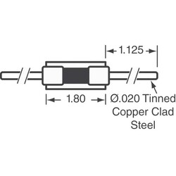 NTC Thermistor 1k DO-204AH, DO-35, Axial - Thumbnail