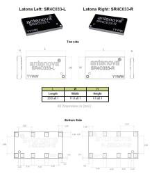 791-960 MHz NB-IOT / LoRa / ISM Latona SMD Anten - SOL - Thumbnail