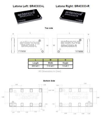 791-960 MHz NB-IOT / LoRa / ISM Latona SMD Anten - SOL