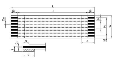 FFC Kablo 0.5mm Pitch 36pin 150mm