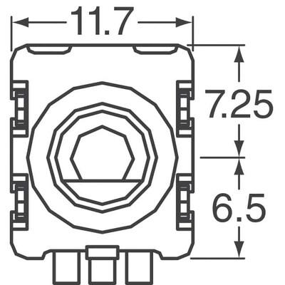 Rotary Encoder Incremental 20 Quadrature (Incremental) Vertical