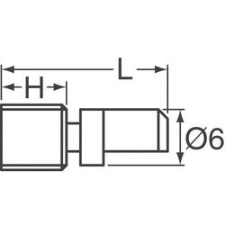 Rotary Encoder Incremental 20 Quadrature (Incremental) Vertical - Thumbnail