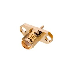 SMA Connector Jack, Female Socket 50Ohm Panel Mount Solder Cup - Thumbnail