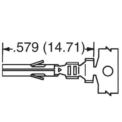Socket Contact Tin 18-24 AWG Crimp Power