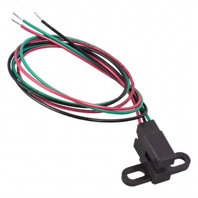 SR17C-J6 Magnetic Hall Effect Sensor Ferrous Vane Digital Wire Leads Slotted Body