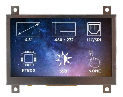 TFT-LCD Display Ekran 4.3 Inches 480x272 FT800 Controller