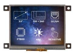 TFT-LCD Display Ekran FT800 Frame RTP - Thumbnail