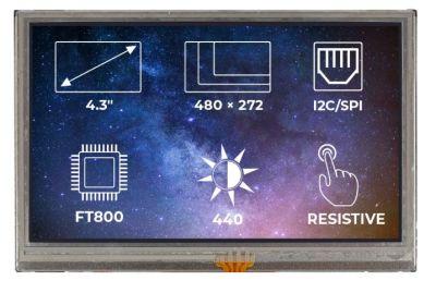 TFT-LCD Display Ekran FT800 RTP