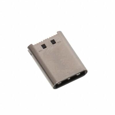 USB-C (USB TYPE-C) USB 3.2 Gen 2 (USB 3.1 Gen 2, Superspeed + (USB 3.1)) Plug Connector 24 Position Board Edge, Straddle Mount