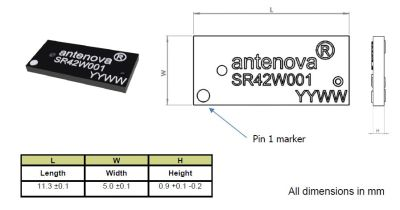 2.4-2.5GHz / 4.9-5.9 GHz Çift Band Wi-Fi SMD Anten